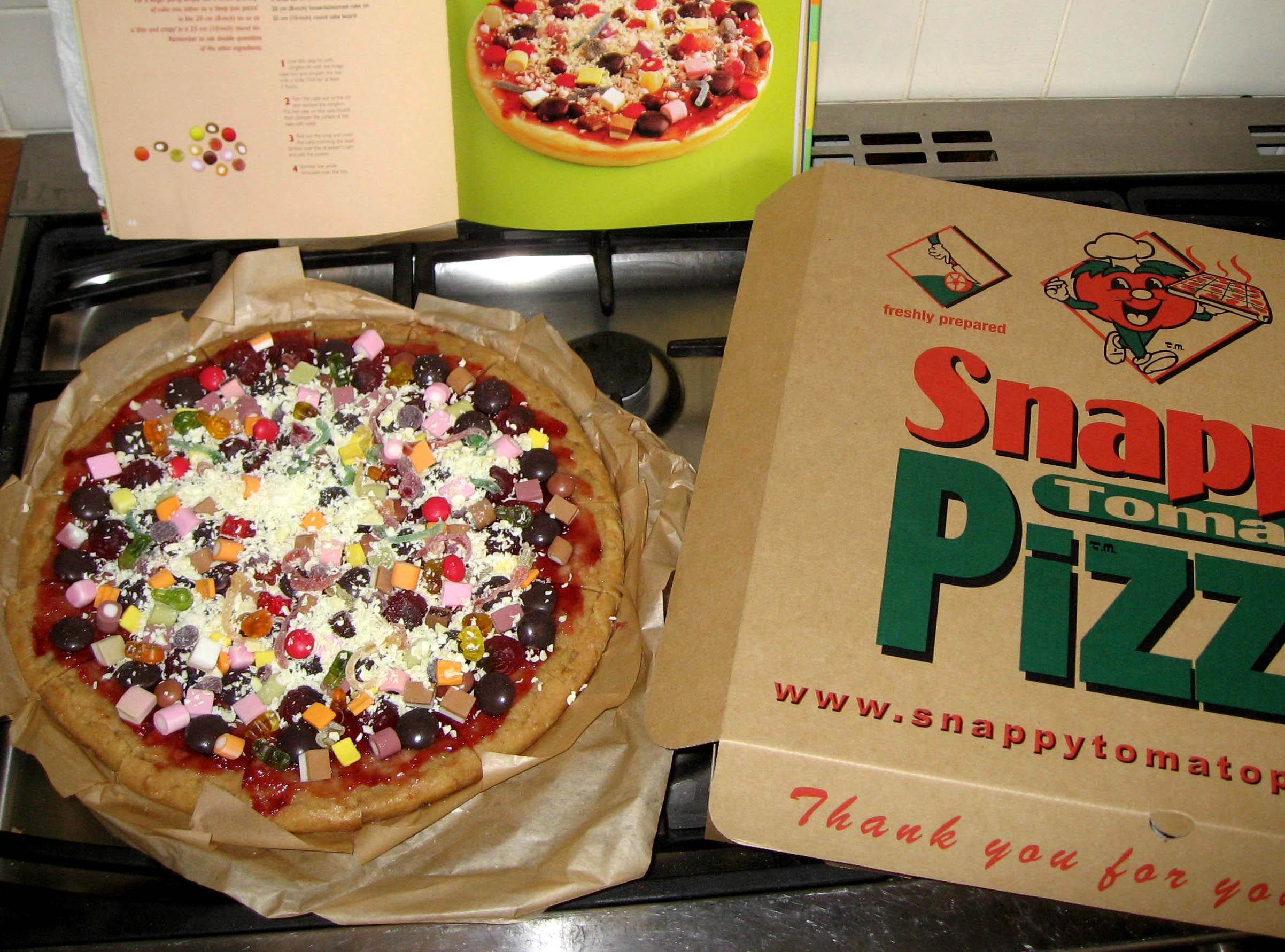 Kid's birthday cake pizza