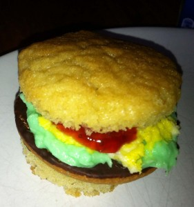 how to make hamburger cupcake