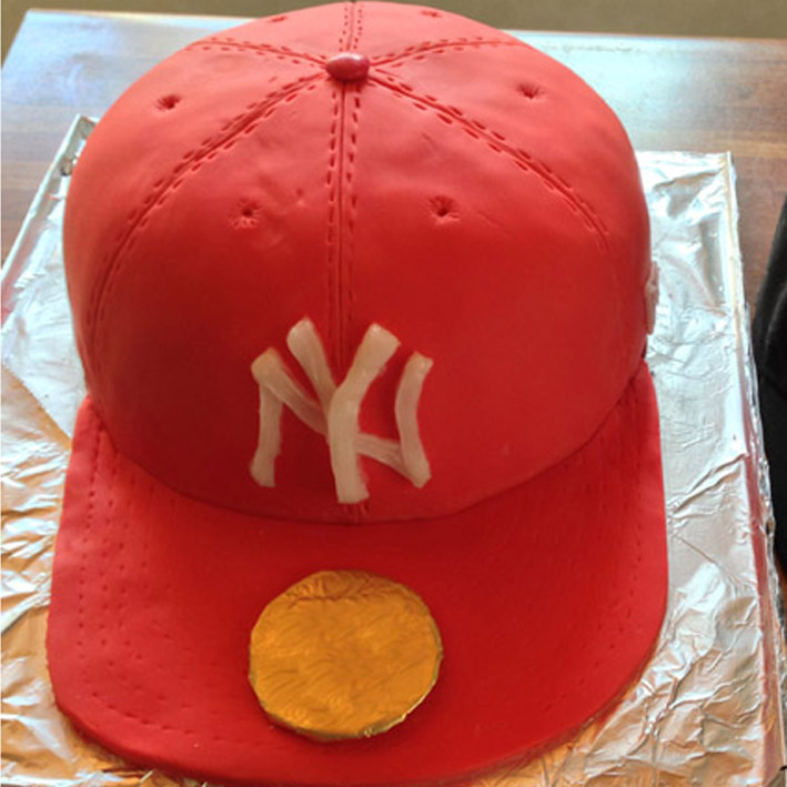 Make A Baseball Cap Cake